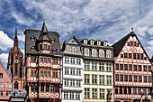 Historische Fachwerkhäuser am Römerberg in Frankfurt am Main
