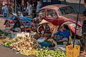 Daoheuang Market in Pakse, Laos