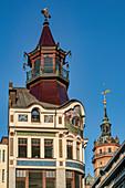 Historical Cafe Riquet, Niklaikirche, Leipzig, Saxony, Germany
