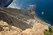 Steep cliffs at Cabo Espichel on the Setúbal peninsula south of Lisbon, Portugal
