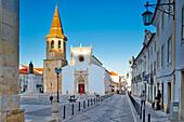 Tomar, Republic Square with Sao Joao Baptista Church, Santarém district, Estremadura, Portugal,