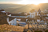 Obidos, medieval walled city at sunrise, Extremadura, Central Portugal, Portugal