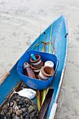 Traditional fishing boat with catch, Piugus Island, Siantan, Anambas, Indonesia