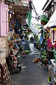 Alley to the Chao Phraya near the Royal Palace, Bangkok, Thailand