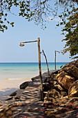 Jetty by the sea at A Na Lay Resort, Koh Kood, Koh Kut, Trat, Thailand