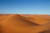 Dune landscape of Erg Chebbi desert, Erg Chebbi, Merzouga, Errachidia, Morocco