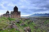 Monastery Howhannawankand landscape at Ashtarak, north of Yerevan, Armenia, Asia