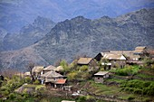 Houses of the village Haghpat, Caucasus countryside at Alaverdi, northern Armenia, Asia