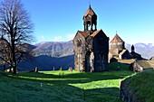 Morning light of Haghpat Monastery complex near Alverdi, Caucasus, northern Armenia, Asia