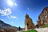 Noravank early Christian monastery in archaic landscape, Armenia, Asia