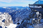 New cable car, cable car station on the Zugspitze, Garmisch-Partenkirchen, Bavaria, Germany