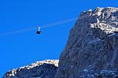 Neue Seilbahn auf die Zugspitze, Garmisch-Partenkirchen, Bayern, Deutschland