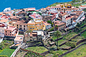 The most beautiful village of the island in the north, Agulo, La Gomera, Canary Islands, Spain