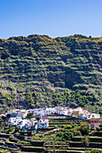 View of the allegedly most beautiful village of the island, Agulo, La Gomera, Canary Islands, Spain