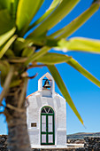 The small chapel Ermita de Nuestra Senora de Guadalupe in the Garajonay National Park, Valle Gran Rey, La Gomera, Canary Islands, Spain