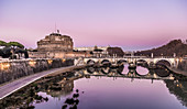 Castel Sant'Angelo in Rome at sunset