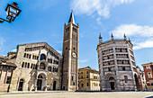 Piazza Duomo in Parma Italy
