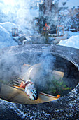 Norway, winter,  Heggenes,surroundings Hotel Herangtunet,  Boutique Hotel, winterbarbeque, salmon