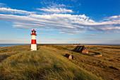 Lighthouse at Ellenbogen, Sylt, North Sea, Schleswig-Holstein, Germany