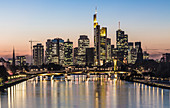Skyline of Frankfurt am Main at sunset