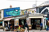 Flohmarkt Marché aux puces de Saint-Ouen, Porte de Clignancourt, Paris, Frankreich