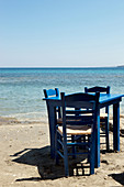 Typical greek restaurant by the sea, Zakynthos, Ionian Islands, Greece