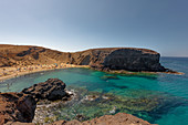 Playa de papagajo is one of the most beautiful beaches in the world. Lanzarote, Canary Islands, Spain, Europe