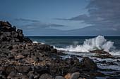 Playa del Janubio, ein Naturstrand aus schwarzem Gestein, Janubio, Lanzarote