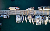 Sailboats at the pier, Port of Martinscica, Cres, Croatia