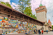 A colourful outdoor gallery in the medieval old town, UNESCO World Heritage Site, Krakow, Poland, Europe