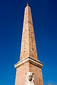 Egyptian obelisk of Ramesses II, Piazza del Popolo, Rome, Lazio, Italy, Europe