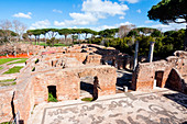 Terme di Nettuno (Baths of Neptune), Mosaics of Neptune, Ostia Antica archaeological site, Ostia, Rome province, Lazio, Italy, Europe