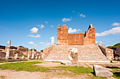 Capitolium, Ostia Antica archaeological site, Ostia, Rome province, Lazio, Italy, Europe