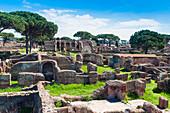 Block of Bacchus and Arianna, Ostia Antica archaeological site, Ostia, Rome province, Lazio, Italy, Europe