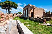 Domus del Ninfeo, Ostia Antica archaeological site, Ostia, Rome province, Lazio, Italy, Europe