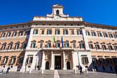 Monte Citorio Palace (Palazzo Montecitorio) seat of the Italian Chamber of Deputies, Rome, Lazio, Italy, Europe