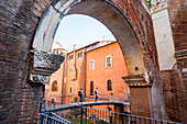 Portico of Octavia dating from 27 BC, UNESCO World Heritage Site, Rome, Lazio, Italy, Europe