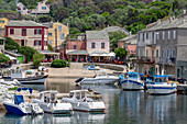 The small fishing village of Port de Centuri on Cap Corse, the most northerly point of Corsica, France, Mediterranean, Europe