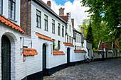 Begijnhof (Beguinage) houses, Order of St. Benedict Convent, UNESCO World Heritage Site, Bruges, Belgium, Europe