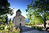 medieval Albanian church and garden in Kis at Shek, Caucasus, Azerbaijan, Asia