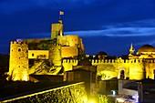Fortress in Rabati in the evening in full illumination, Akhaltsikhe in the small Caucasus, South Georgia