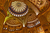 Ceiling of the Sultan Ahmed Mosque, Istanbul, Turkey