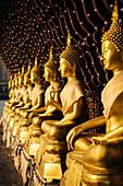 Buddha statues, Seema Malakaya Temple, Colombo, Western Province, Sri Lanka, Asia