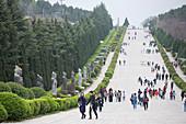 Qianling Mausoleum, Qin Emperor's tomb at Mount Li near Xian, Shaanxi Province, China, Asia