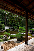 Rock garden created by famous designer Shigemori Mirei, Reiun-in temple, Kyoto, Japan, Asia