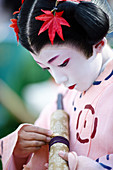 Twelfth century Tokiwa Gozen's child, Jidai festival, Kyoto, Japan, Asia