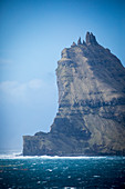 Majestic natural scenery with coastal cliff, Faroe Islands