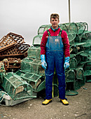 Portrait of fisherman, Isle of Mull, Scotland, UK