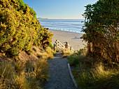 Beach access at Hampden, Otago, South Island, New Zealand, Oceania