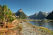 Milford Sound, Mitre Peak, Fiordland Nationalpark, Southland, Südinsel, Neuseeland, Ozeanien